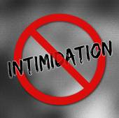 Stop intimidation sign — Stock Photo