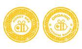 Organic Honey stamps — Stock Vector