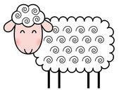 Cute cartoon schapen — Stockvector