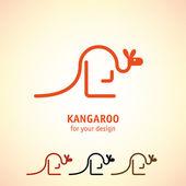 Kangaroo icons set — Stock Vector