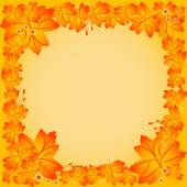 Autumn frame with background of maple leaves — Stock Vector