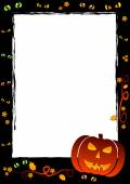 Holiday frame on theme Halloween with field for text — Stock Vector