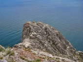Nature Of Lake Baikal. The point of the promontory — Stock Photo