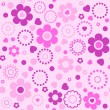 Seamless floral pattern in pink tones — Stock Vector #56672731