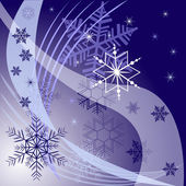 Winter background with different snowflakes 2015 — ストックベクタ