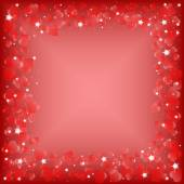 Festive background with hearts on Valentine's day. February 14 - day for all lovers — Stock Vector