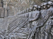 Bas-relief, depicting Victory Parade on Red Square in 1945 — Stock Photo