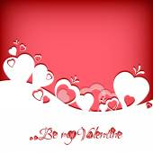 Festive card with hearts label on Valentine's day. February 14 - day for all lovers — Stock Vector