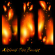 Abstract banners with flashes of flame — Stock Vector #63915937