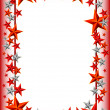 Постер, плакат: Holiday frame with stars on Defender of the Fatherland day February 23
