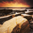 Rocky Dorset Coastline at sunset — Stock Photo #58187615