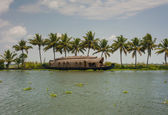 Kerala waterways and boats — Stock Photo