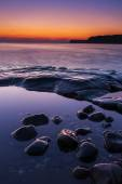 Rocky Dorset Coastline at sunset — ストック写真