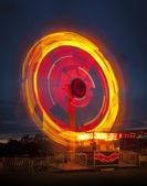 Fairground ride at night — Stock Photo