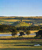 Corfe Castle and Poole Harbour — Stock Photo