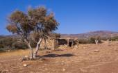 Farm shelter in arid west Cyprus — Stock Photo