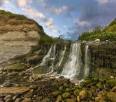 Waterfall at Osmington Mills in Dorset — Stock Photo