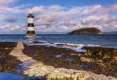 Penmon Lighthouse on Anglesey, Wales — Stock Photo