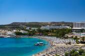 Kalithea Beaches and Hotels on Rhodes — Stock Photo