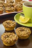 Small pecan pies — Stock Photo