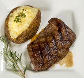 Grilled sirloin steak — Stock Photo
