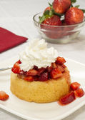 Strawberry shortcake dessert — Stock Photo