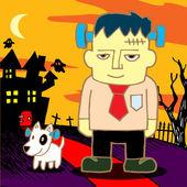 Frankenstein cartoon — Stok Vektör