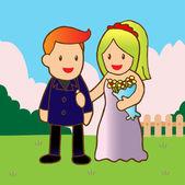 Nowożeńcy — Wektor stockowy