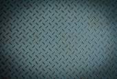 Starý kovový kosočtverec deska — Stock fotografie