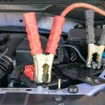 Car battery charging — Stock Photo #74166055