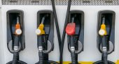Pump nozzles at the gas station. — Stock Photo