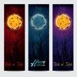 Halloween vertical banners set with moon — Stock Vector #52594857