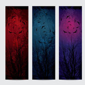 Halloween vertical banners set — Stock Vector