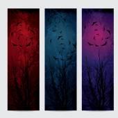 Halloween vertical banners set — Stock Vector