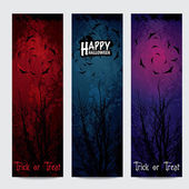 Halloween vertical banners set with text — Stock Vector