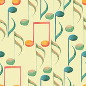 Watercolor music pattern — Stock Vector