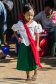 NGAPALI BEACH, MYANMAR - December 3, 2014: an unidentified child — Stock Photo