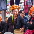 INLE LAKE, MYANMAR - December 01, 2014: three unidentified women — Stock Photo #73174871