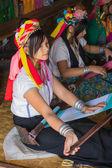 INLE LAKE, MYANMAR - NOVEMBER 30, 2014: an unidentified girl of — Stock Photo