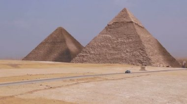 Great Pyramids on the background of Cairo. Egypt — Video Stock