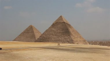 Pyramids on the background of Cairo. Egypt — Video Stock