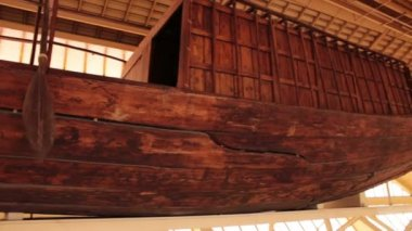 Khufu ship. Full-size vessel from Ancient Egypt — Vidéo