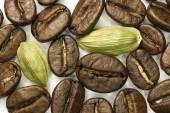 Coffee and cardamom. — Stock Photo