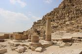 Ancient ruins near the pyramids of Giza. Egypt — Stock Photo