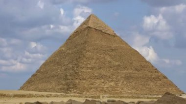 Timelapse. Pyramid of Khufu. Cairo. Egypt. — Stock Video
