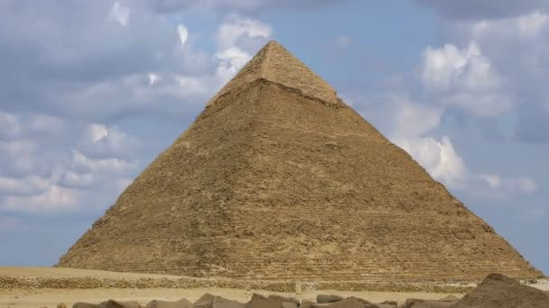 Timelapse. Pyramid of Khufu. Cairo. Egypt. — Vidéo