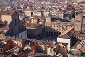 Old Bologna, Piazza Maggiore. Italy. — Stock Photo