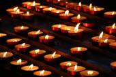 Candles in a church — Stock Photo