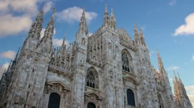 TimeLapse. Milan cathedral dome - Italy. — Vídeo de Stock