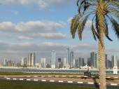 DUBAI, UAE - FEBRUARY 02, 2014 General view of the Dubai . In the city of artificial channel length of 3 kilometers along the Persian Gulf. — Stock Photo